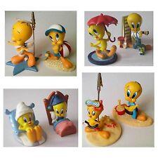 Lot 8 statuettes Figurine Résine Titi au lit parapluie plage mer peintre ange