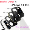 New Camera Lens Seconds Change Protector Ring Cover for IPhone11 Pro Max Lens