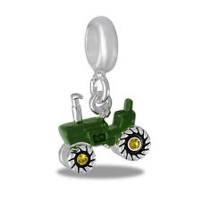 Davinci Beads Charm - Green Tractor Dangle - Buy 2 or More DaVinci and Save!