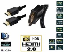 1m Premium v2.0 HDMI 24k Gold Cable 4K 3D Ultr.HD ARC High Speed+Ethern Next Day