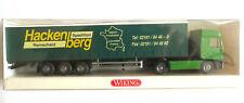 Hackenberg Iveco Sattelzug    . Wiking    Werbemodell    H0 1:87 OVP #3412 wm