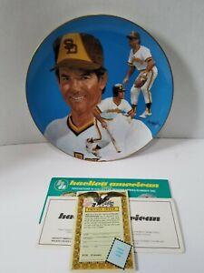 1983 STEVE GARVEY AUTOGRAPHED PLATE Baseball Padres HAND SIGNED IN ORIGINAL BOX