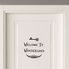 Alice in Wonderland Welcome Magic Door Sign Sticker Decal Princess Bedroom Decor