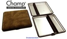 Cigarette Case -- Champ Canvas Brown 20 King Size -- NEW chks31