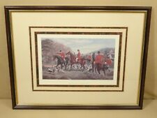 TIME'S UP THROW IN WINDSOR ART PRODUCTS HUNTING DOGS HORSES LITHOGRAPH PRINT VTG