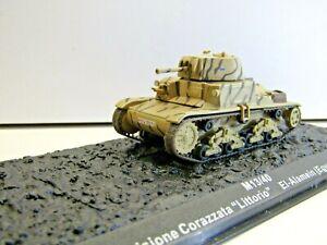 """IXO Die-cast Model 1:72 Scale M13/40 Div. Corazzata """"Littorio"""" El-Alemain - 1942"""