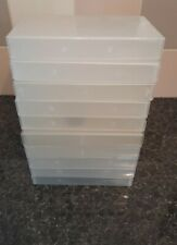 EMPTY USED VHS VIDEO CASSETTE CASES - 10 SINGLE  - CRAFT STORAGE bargain