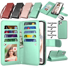 For iPhone 11,Pro,XS Max,XR Flip Leather Wallet Case w/Card Holder Stand Cover