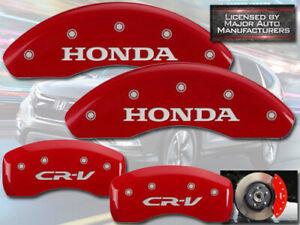 "2007-2011 ""Honda CR-V"" CRV Front + Rear Red MGP Brake Disc Caliper Covers 4pc"