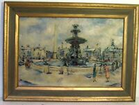 LISTED RUSSIAN / FRENCH GEORGII LAPSHIN 1885-1951 PARIS SGENE OIL PAINTING