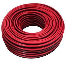 Câble pour Haut-Parleur 100 M 2x 4 Mm ² Rouge/Noir - D'Enceinte Auto car Hifi
