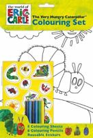 The Very Hungry Caterpillar COLOURING SET Activity Stickers Crayons Eric Carle