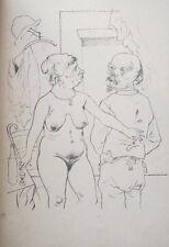 Lithography original - George Grosz - Ecce Homo - Kappelle Hochzeit - 1923