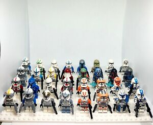 You Pick Star Wars Minifigures Clones Mandolorians- Blasters Included! Customs