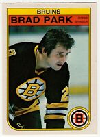 1982-83 OPC O PEE CHEE HOCKEY BRAD PARK BOSTON BRUINS #19