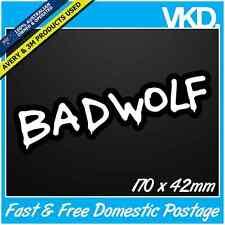 Bad Wolf Sticker/ Decal -  Dr Who Doctor Vintage Retro Tardis Car Fridge Laptop