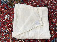 """Restoration Hardware $149 Linen Shower Curtain White Canvas 68"""" Luxury Bath FLAW"""