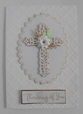Handmade Personalised Easter, Christmas,Sympathy , Christening Card Gold Cross