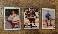 (3) Pavel Bure 1990-91 Upper Deck Rookie 1991-92 Pro card lot RC HOF Young Guns