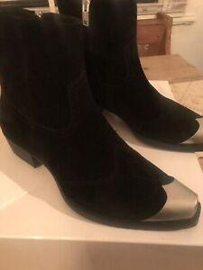 Represent Western..Metal Toe Boots . Black .with dust bag size 41 /size 8
