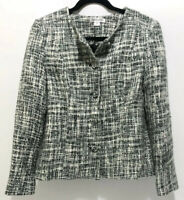 Pendleton Womens Size 6 Blazer Jacket Grey White Tweed Style Business Casual