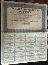 Lot de 5 actions Droguerie pharmaceutique de France