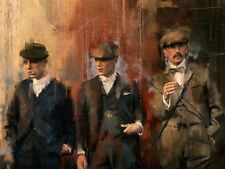 """Extra Large Peaky Blinders Wall Art Canvas 20"""" X 30"""" solid frame"""