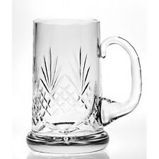 Beer Tankard 24% Lead Crystal Semi Cut Free Engraving Dishwasher Safe Gift Boxed