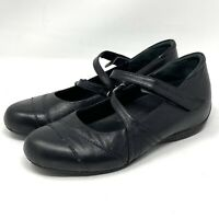 Ziera Super Support Womens Black Leather Maryjane Shoes Size 41 US Sz 8