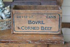 Large Antique Wooden Box Crate BOVRIL CORNED BEEF Food & Beverage Advertising