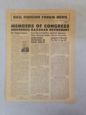 1964 Rail Pension Forum News : Newspaper for All Railroad Workers Vol. 17 No. 1