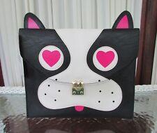 Betsey Johnson Pug XL Clutch Tablet Case Bag Purse Black NWT