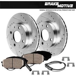 Front Drill Slot Brake Rotors +Ceramic Pads For 2007 2008 2009 2010 Mini Cooper