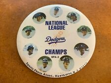Los Angeles Dodgers NL Champs Photo Baseball Button Steve Garvey Don Sutton