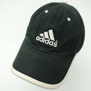 Adidas Black White 3 Stripes Ball Cap Hat Adjustable Baseball Women's