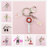 Kpop Stray Kids TWICE EXO GOT7 WJSN Lightstick Shaped Acrylic Key Chain Keyring