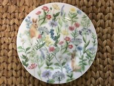 "Stechcol Gracie Bunny Wildflower Salad Side Plates 7.5"" Bone China - Set of 4🐰"