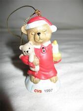 CVS 1997 Traditions Teddy Bear Santa Christmas Holiday Ornament MINT with Box!