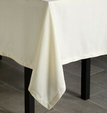 "SFERRA Harrow 106"" Round Tablecloth - White"