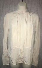 Ralph Lauren Black Label Womens White Silk Button Front Shirt Size 6