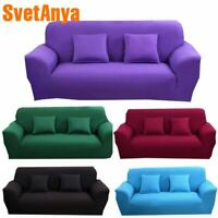 Fashion Multicolor Strech Sofa Cover L Sectional Slipcovers Solid Color Handmade