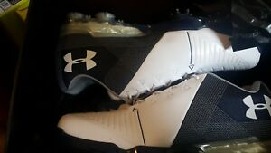 Under Armour Spieth 2 Golf Shoes Gore-Tex White Blue Navy 3000165-101 Size 8