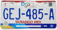 Durango Original Used Expired Mexico License Plate GEJ