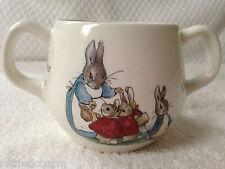 ❤Wedgwood Peter Rabbit 🐰 Child's 2 Handled Cup Mug Flopsy Mopsy England NEW❤