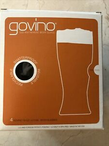 Govino Shatterproof 16oz Beer Glasses Set of 4 Reusable Recyclable New Box