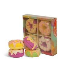 Bath Bombs Gift Set Organic and Natural Ingredients *DOUGHNUT* 4×120g