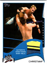 WWE Christian 2014 Topps Event Used Shirt Relic Card 3 Color BYB