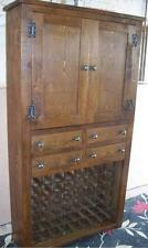 REAL SOLID WOOD WINE RACK SIDEBOARD CUPBOARD CABINET RUSTIC PLANK PINE FURNITURE