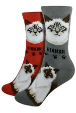 New Foozys Brand Ladies Birman Cat Breed Socks Feline Collection Choose Color