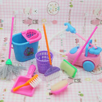 9PCS House Dolls Furnishing Cleaning Kit For Barbie Dolls House Furniture Toys
